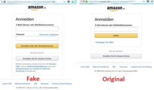 Amazon - Original und Fake (Screenshots)