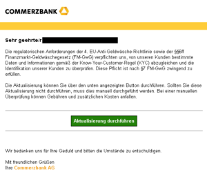 Commerzbank-Phishing (Quelle: verbraucherzentrale.nrw)