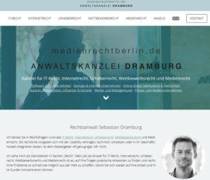 Rechtsanwalt Sebastian Dramburg (Screenshot medienrechtberlin.de)